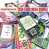 4th Grade Math QR Code Task Cards MEGA Bundle