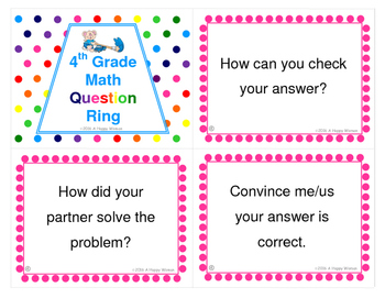 4th Grade Math Question Ring