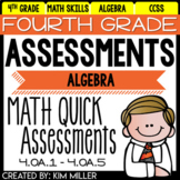 Math Test Prep Review - 4th Grade Assessments: Algebra - 4.OA