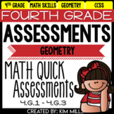 Math Test Prep Review - 4th Grade Assessments: Geometry - 4.G