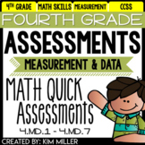 Fourth Grade Math Review: Quick Assessments - Measurement and Data - 4.MD