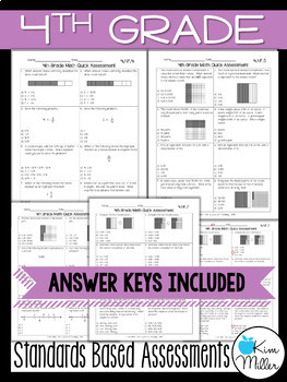 Math Test Prep Review - 4th Grade Assessments: Fractions - 4.NF