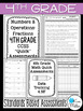 4th Grade Math Review: Quick Assessments - Fractions - 4.NF