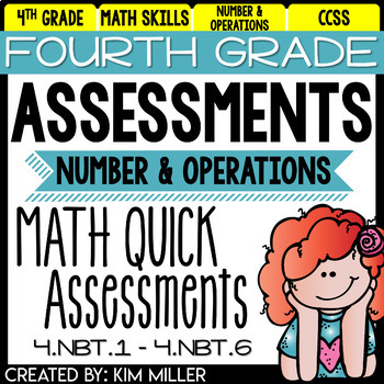 Math Test Prep Review- 4th Grade Assessments: Number and Operations ...