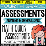 Math Test Prep Review- 4th Grade Assessments: Number and Operations - 4.NBT