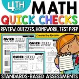 4th Grade Math Assessments Bundle {All Standards}