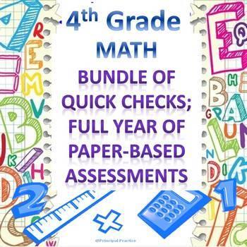 4th Grade Math Quick Checks Bundle