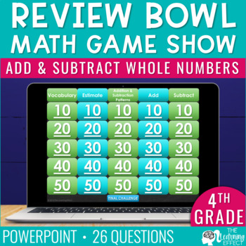 4th Grade Math Game - Addition & Subtraction