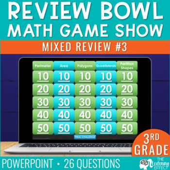 3rd Grade Review #3 Game Show   End of Year