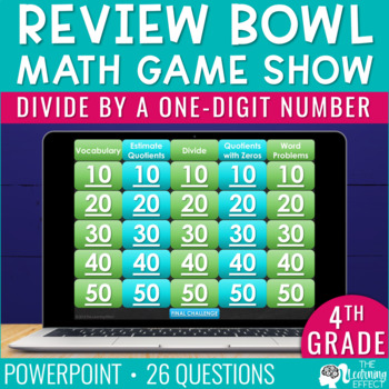 4th Grade Math Game - Divide by a One-Digit Number