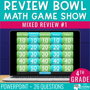 4th Grade Math Game   End of Year Review #1