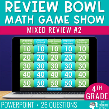 4th / 5th Grade Math Game - End / Beginning of Year #2