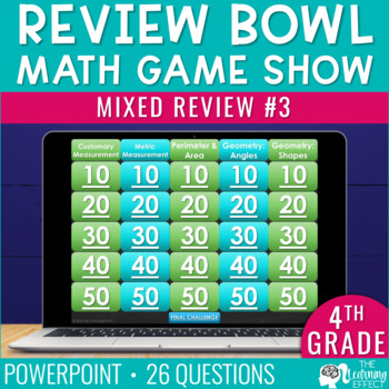 4th / 5th Grade Math Game - End / Beginning of Year #3