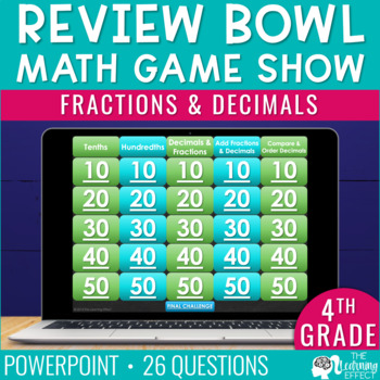 4th Grade Math Game | Fractions and Decimals
