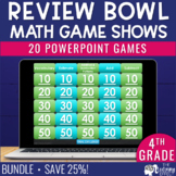 4th Grade Math Game Show Review BUNDLE   Distance Learning