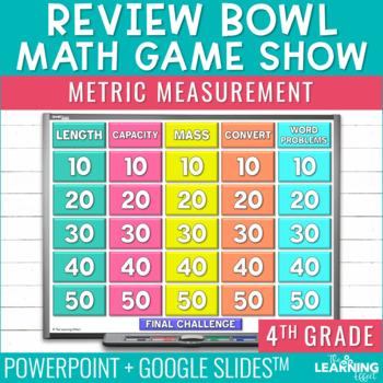 4th Grade Math Game - Metric Measurement
