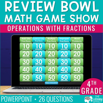 4th Grade Math Game - Operations with Fractions