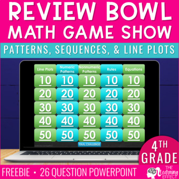Patterns, Sequences, and Line Plots Review Bowl freebie
