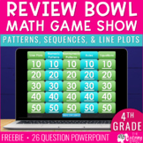 Patterns, Sequences, Line Plots Game Show | 4th Grade Math FREE