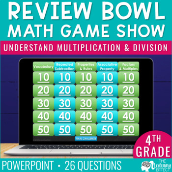 4th Grade Math Game - Understand Multiplication & Division