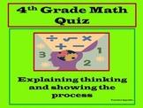 4th Grade Math Quiz: Perimeter, Area and Decimals