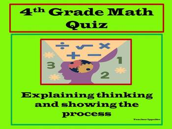 4th Grade Math Quiz: Perimeter, Area and Decimals