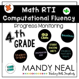 4th Grade Math RTI Computational Fluency Progress Monitoring
