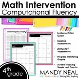 4th Grade Math RTI Computational Fluency Progress Monitoring