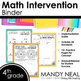 4th Grade Math RTI Intervention Binder
