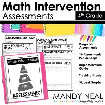 4th Grade Math RTI Assessments By Mandy Neal Teachers Pay