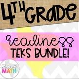 Grade 4 Math Readiness TEKS STAAR Test-Prep Task Cards BUNDLE!