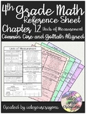 4th Grade Math Reference Sheet (Go-Math Chapter 12)