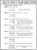 4th Grade Math Reference Sheet (Multi-Digit Subtraction)