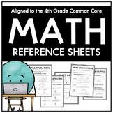 4th Grade Math Reference Sheets