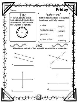 4th Grade Math Review