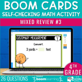 4th Grade Math Review #3 Boom Cards™ End of Year | Distanc