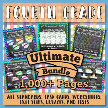 4th Grade Math Review Bundle: 4th Grade Math Curriculum, E