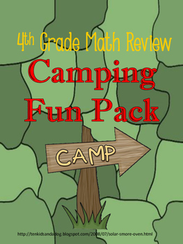 4th Grade Math Review Camping Theme Pack With STEM Activit