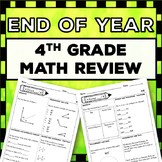 4th Grade End of Year Math Review: Covers Entire Year {More than 124 problems}