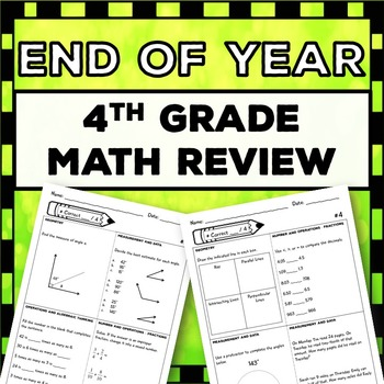 4th Grade End of Year Math Review: Covers Entire Year {Mor