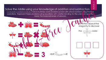 Valentine's Day 4th Grade Math Review- Escape Room style