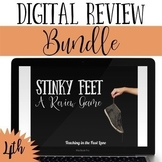 Distance Learning 4th Grade Math Review Game Stinky Feet Bundle