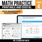 4th Grade Math Review Pack | Google Classroom™ | Distance