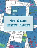 4th Grade Math Review Packet MEGA BUNDLE