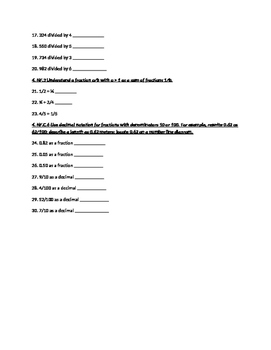 4th Grade Math Review Page