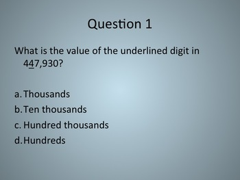 4th Grade Math Review PowerPoint