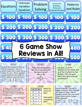 4th Grade Math Review Game Show - PowerPoint Edition