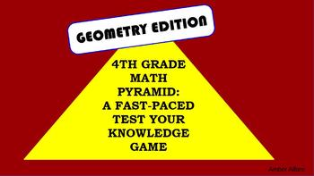 4th Grade Math Review Pyramid Game ~ Geometry CCSS ~ Build Language Activity