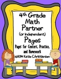 4th Grade Math Review Sheets