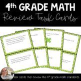 4th Grade Math Review Task Cards